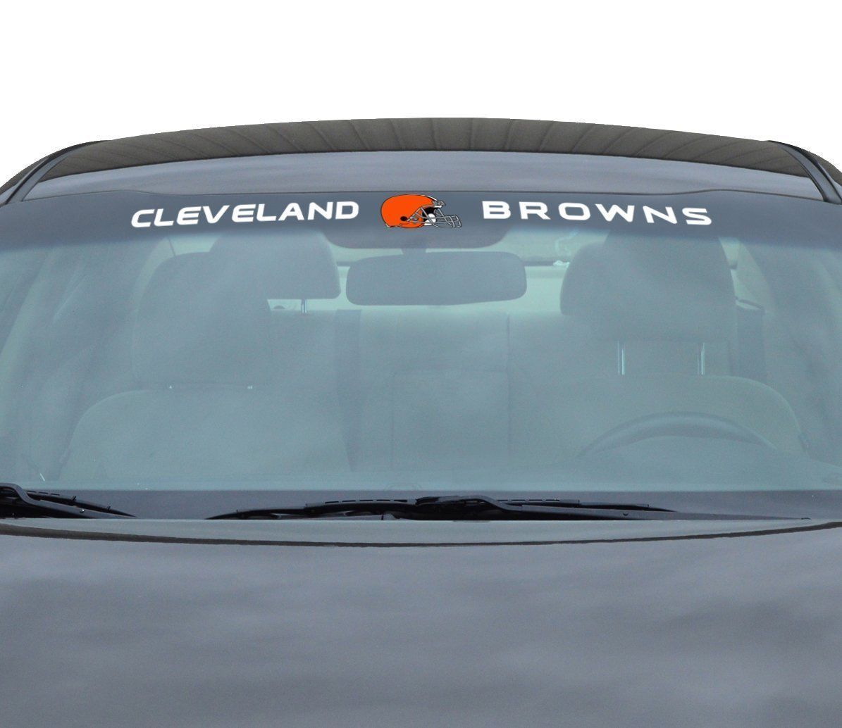 "CLEVELAND BROWNS 35"" X 4"" WINDSHIELD REAR WINDOW DECAL CAR TRUCK NFL FOOTBALL"