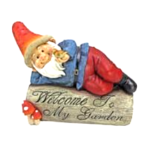 """Gideon, the Garden Gnome"" Welcome Sign Statue - $42.39"