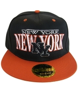 New York NY Men's Adjustable Snapback Baseball Cap Hat Black/Red - $8.95