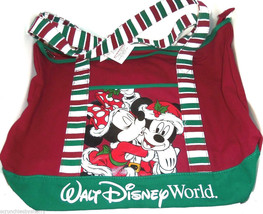 Walt Disney World Mickey Minnie Christmas Tote Bag Theme Parks New - $59.95