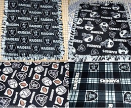 "Oakland Raiders Fleece Baby Blanket Pet Lap Pewter Gray Black 30"" x 24"" ... - $39.95"
