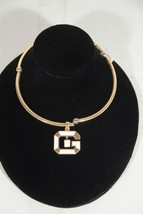 GIVENCHY Vintage Gold metal CHOKER NECKLACE w/ ... - $148.50