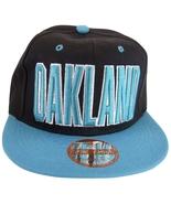 Oakland Men's Adjustable Snapback Baseball Cap with Script Under Bill Bl... - $9.95