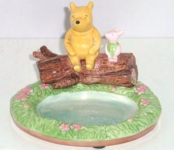 Disney Winnie Pooh Piglet Soap Dish Hand Painted Kids Bathroom  - $74.95