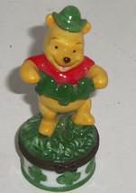 Disney Winnie the Pooh Porcelain Hinged Trinket Box March St Patricks Da... - $34.95