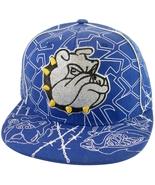 Bulldog Men's Adjustable Snapback Baseball Cap with Bling Royal Blue - $9.95