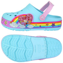 Crocs Lights Rainbow Heart Kids Clogs Slip on S... - $54.14