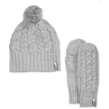 Helly Hansen Montreal Beanie and Mittens Knit Set, Gray, Sz. Standard - $676,54 MXN
