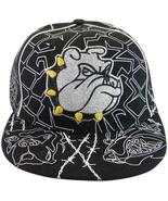 Bulldog Men's Adjustable Snapback Baseball Cap with Bling BLACK - $9.95