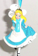 Disney Alice Wonderland Ornament Christmas Tree Holiday Theme Park Blue ... - $34.95