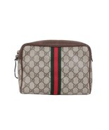 Authentic GUCCI VINTAGE Brown GG MONOGRAM Canva... - $133.65