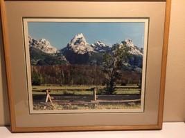 "Richard Strauss Grand Tetons, Wyoming. Framed Photograph, Signed. 28""x24""  - $74.78"