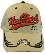 New York City NYC NY Men's Adjustable Curved Brim Baseball Cap Hat KHAKI - $9.95