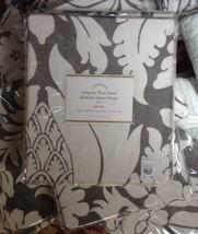 Pottery Barn Set 2 Damask Drape Gray 50x84L Pole Curtain Belgian Linen Sheer New - $126.40