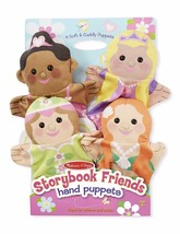 New 4pc Melissa & Doug Storybook Friends Hand Puppets Role Pretend Fanta... - $21.77