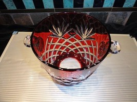 Faberge Odessa Ruby Red  Ice Bucket - New without the box - $450.00