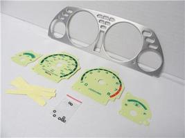 1990-1993 Acura Integra Manual Aluminum Bezel & Glow Through white Face ... - $24.99