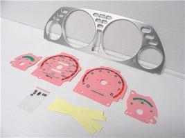 1990-1993 Acura Integra automatic Aluminum Bezel & Glow Through Pink Fac... - $24.99