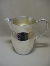 Silver Plate Pitcher Water Beverage Ice Lip 7 3/4 Inches High - $15.95
