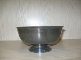 Silver Plate Sheridan Vegetable Serving Pedestal Bowl 1946 - $12.98