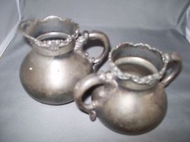 Silver Plate Sugar & Cream Set Middle Town Plate Co Silver Plate 670  18... - $19.95