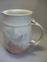 "Large Pitcher 8""  Stoneware Pottery Jan Lord Pi... - $12.99"