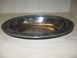 Silver Plate Wm Rogers Serving Vegetable Bowl Harvest 1878-1976 - $12.98