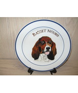 Collector Plate Porcelain Basset Hound Sign  S Rasberry Oneida  '04 - $12.95