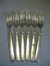 Silver Plate Forks Qty 6 Anchor Rogers Anchor 1846 Wm Rogers Discontinue - $9.95