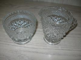 Anchor Hocking Glass Sugar & Creamer Set Wexford Pattern 1967-2000 - $9.95