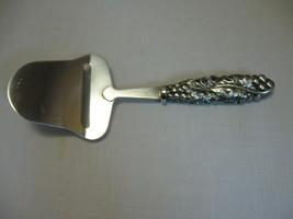 Silver Tone Plate Stainless Steel Server Cake Desert Server Grapes & Lea... - $9.95