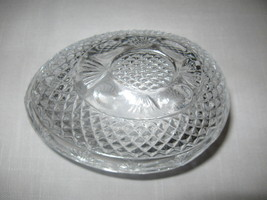 Avon Lead Crystal  Egg Shape Soap Candy Trinket Dish Mother's Day Foster... - $9.95