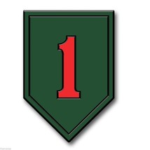 "ARMY 1ST INFANTRY BIG RED 5"" FRIDGE MAGNET MADE... - $18.04"