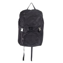 Authentic PRADA Navy Blue Nylon Canvas DOUBLE BUCKLE BACKPACK - $683.10