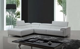 Modern Divani Casa Citadel Modern White Eco-Leather Sectional Sofa