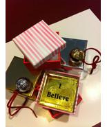 Polar Bear Sleigh Bell Express from Elf Works Lane w I Believe deco box ... - $16.82+