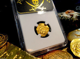 """Mexico 1 Escudo 1690 """"Jeweled Cross 1715 Plate Fleet Ship"""" Ngc 55 Gold Doubloon - $6,950.00"""