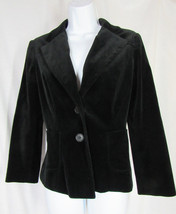 VINCE Black Velvet Lined 2 - Button Blazer Jacket Size 6 - $19.99