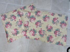 RALPH LAUREN standard shams - floral print on tan - set of 2 - $19.98