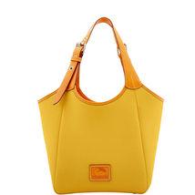 Dooney & Bourke Dandelion Pebble Leather Penelope Top Zip Closure Hobo - $459.99