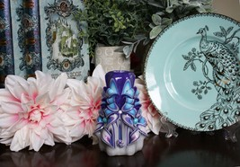 Carved Candles Teal, Blue, Purple, Pink, White Paraffin Wax Free shipping - $32.99
