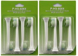 8Pcs Fit For Philips Sonicare HX6064 Diamond Clean replacement Toothbrush Heads - $9.00