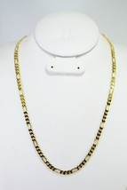 """HIP HOP MENS FIGARO CHAIN 14K GOLD OVERLAY 24"""" INCH & 5MM - $14.84"""