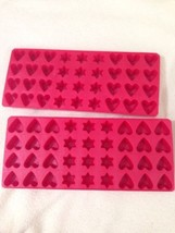Valentine's Day Heart Love Shape Tray Ice Candy Mold Stars America Red l... - £7.92 GBP
