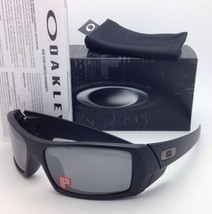 OAKLEY POLARIZED Sunglasses GASCAN OO 12-856 Matte Black Frame w/ Black Iridium