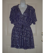Anthropologie Free People Purple Plum and Silver Dress Love Your Chaos S... - $46.43