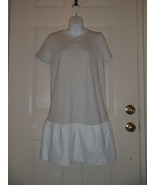 The Addison Story Dress Anthropologie SMALL S Gray White - $37.08