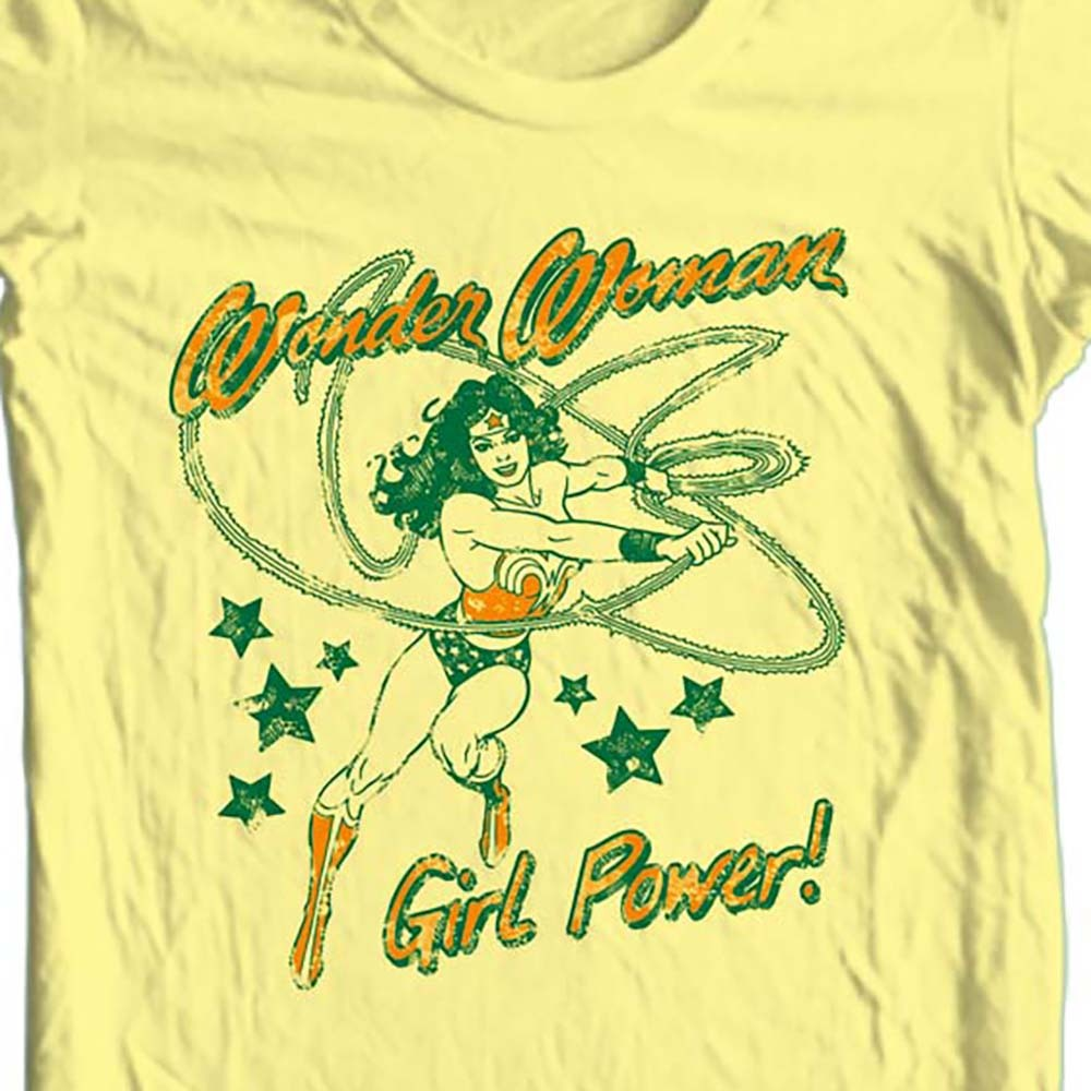 Wonder Woman Girl Power T-shirt retro TV old style free ship 100% cotton DCO653