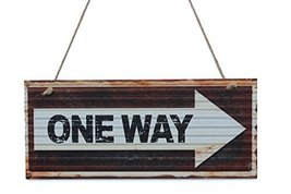 One Way Wood Hanging Sign By meijiafei - $16.25