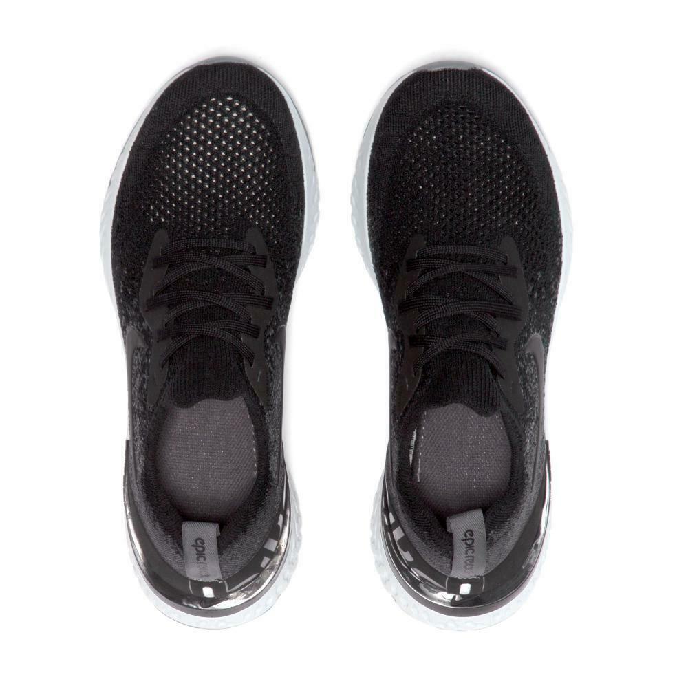Nike Epic React Flyknit (GS) Black Dark Grey 943311 001 Youth Running Shoe Sizes image 4